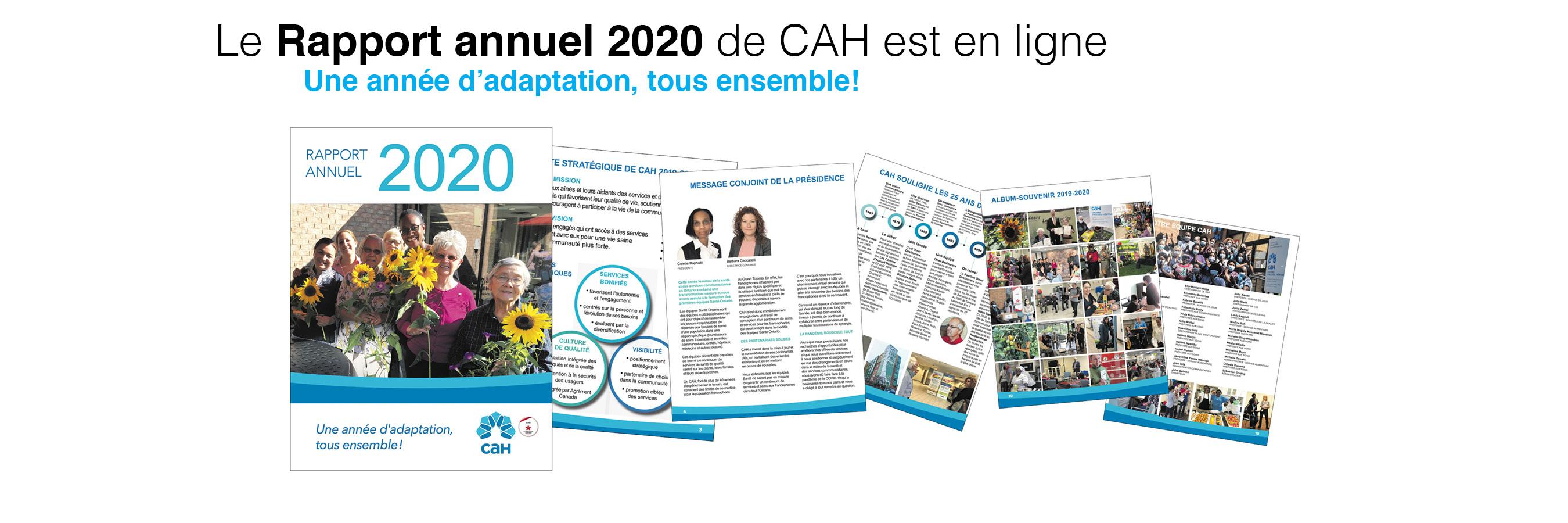 Rapport annuel 2020 de CAH