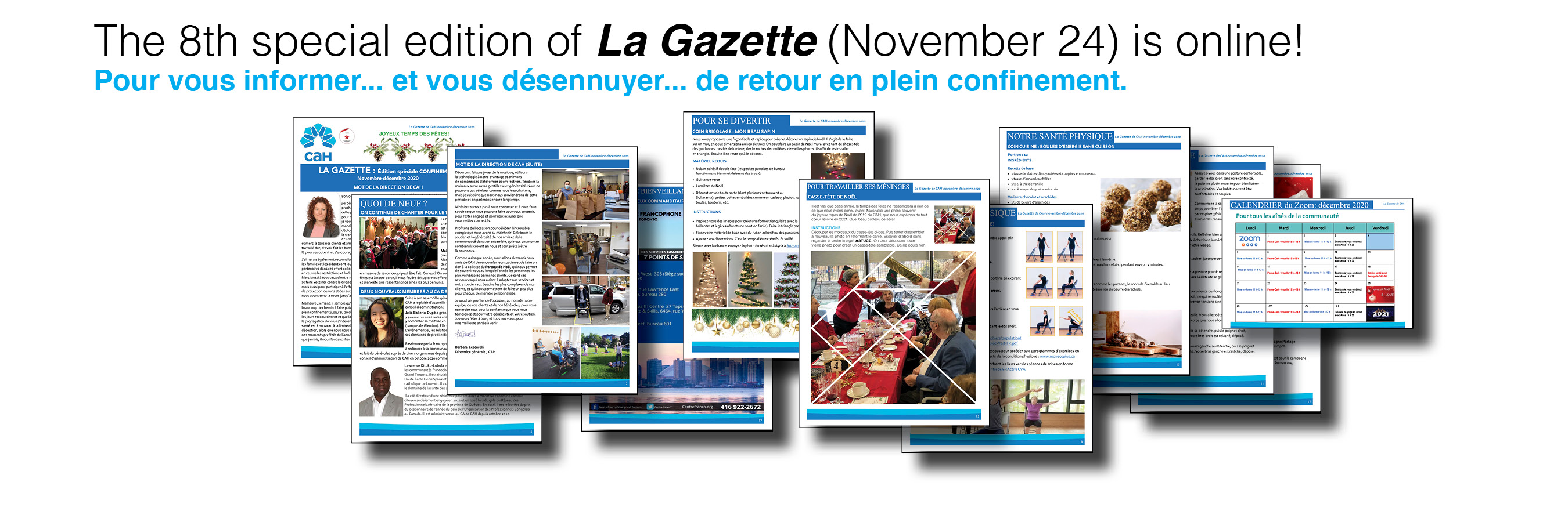 The 8th special edition of La Gazette (in French) is online!