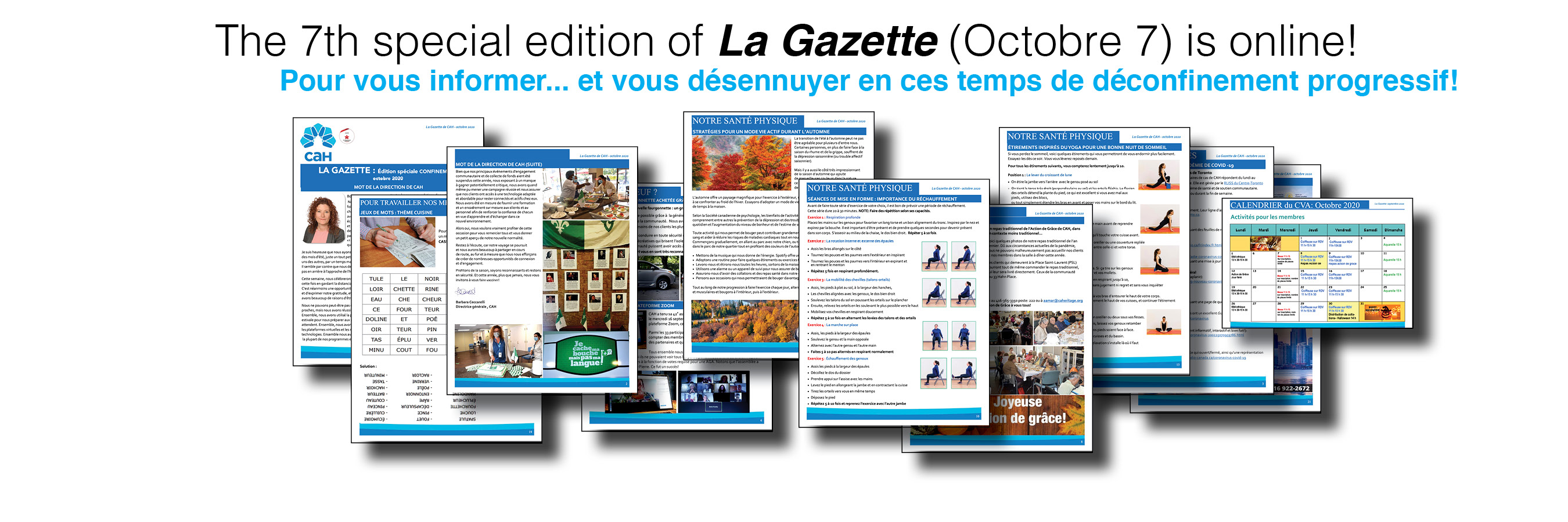 The 7th special edition of La Gazette (in French) is online!